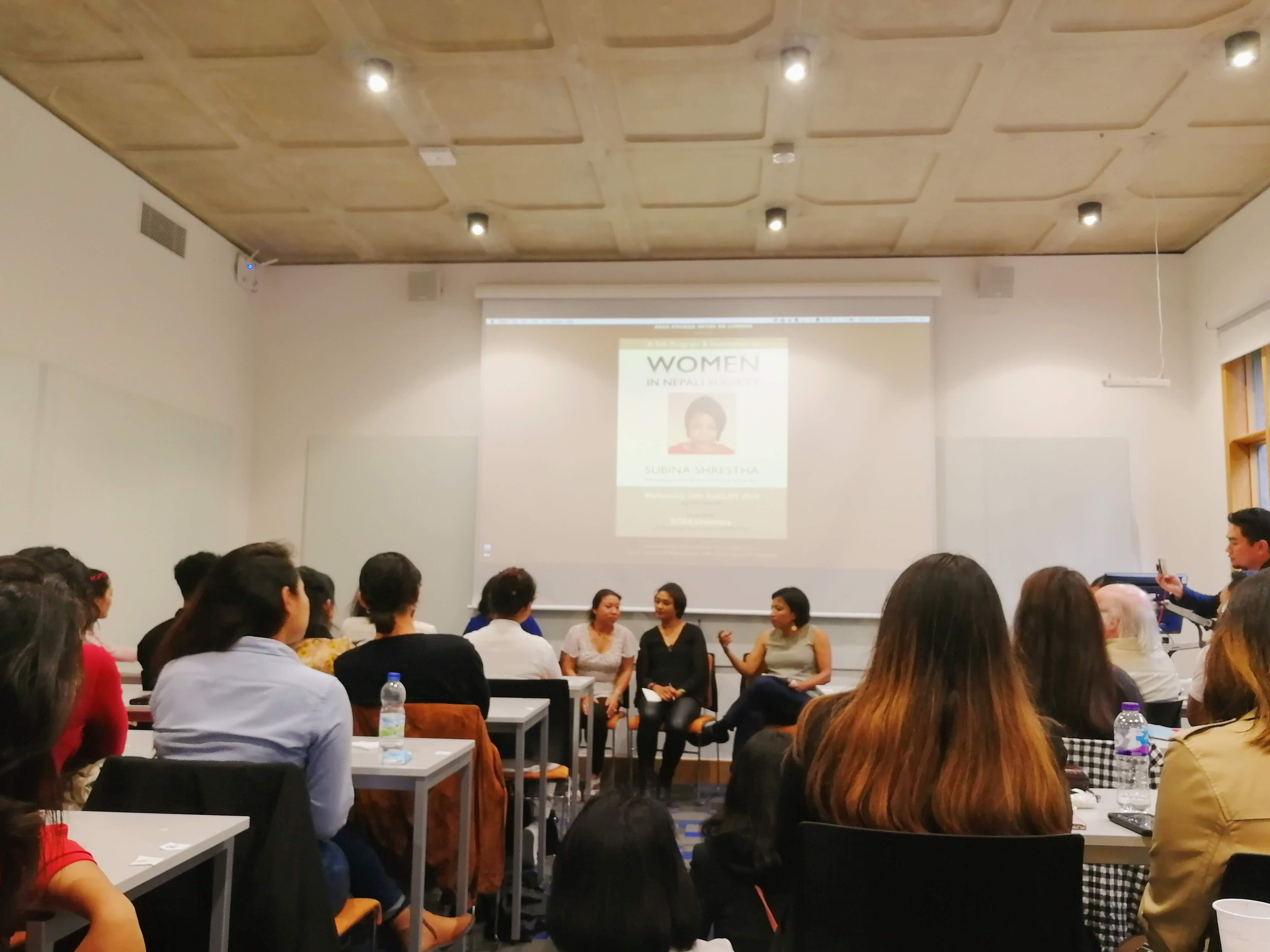 'Women in Nepali Society' with Subina Shrestha