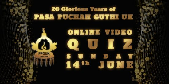 20 Years of Pasa Puchah Guthi UK – Online Quiz